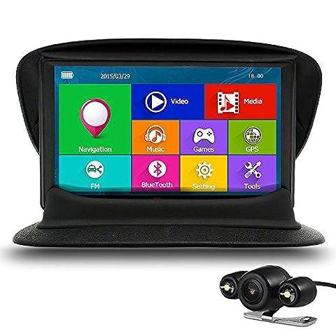 Auto GPS SAT NAV 17,8cm Bluetooth 8GB mit Kamera FM MP3MP4256MB DDR/800MHZ Lebenslange UK und Europa Map Updates von junsun