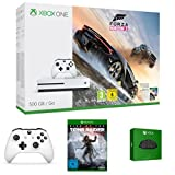 Xbox One S 500GB Konsole - Forza Horizon 3 Bundle + Rise of the Tomb Raider + Xbox Wireless Controller + Xbox One Chatpad QWERTZ