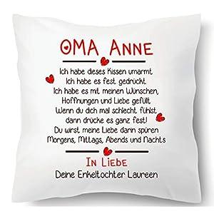 Farbwuselei Oma individuell In Liebe Dein Enkel Namen Geschenk Kissenhülle Inlay