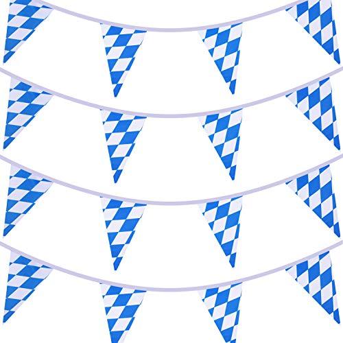 2 Stück 10 Meter Bayerische Prüfen Flagge Wimpel Banner für Oktoberfest Party Dekoration