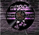 AIYOUBU led nachtlicht spielhaus led wanddekoration Vinyl Uhr mit nachtlicht 7 Farbwechsel