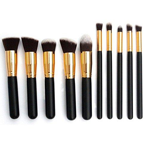 Make Up Brushes, 10pcs Wood Professional Makeup Brushes Cosmetic Set Foundation Brush Powder Brush Eyeshadow Brushes