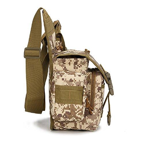 Outdoor militare tattico marsupio Borse impermeabile Marsupio Marsupio Cintura Marsupio Arrampicata Attrezzature militari, Black Brown
