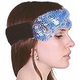 Migräneband mit Klettverschluss - Migränekompresse mit kälte- und wärmespeicherndem therapeutischen Gel-Perlen zur Linderung bei Kopfschmerzen Migräne Erkältung Nasenblutung wie Kühlkissen für den Nacken oder Stirnband - Wiederverwendbare Gelkompresse auch zur Wärmetherapie und Kosmetik ideal wie Migränebrille┇Hot Cold Pack for Head - Medipuls