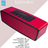 HoA S2025 Mini 3W Portable Wireless Bluetooth Speaker With Mic, FM Radio And Pendrive/Flash Drive & TF Card Slot For All Devices (Red)