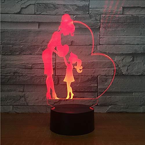 Mmzki Acryl Cartoon Touch 3D Lampe Bunte Atmosphäre Weihnachtsschmuck Geschenk Für Baby Zimmer Lichter Großhandel Led Nachtlicht