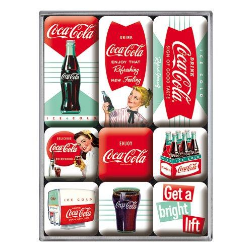 Nostalgic-Art 83071 Coca-Cola - Diner, Magnet-Set (9teilig) (Vintage Kuchen-messer-set)