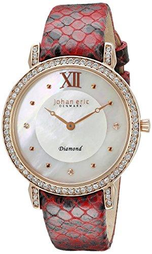 Johan Eric je7000–09de la mujer–009.14hueca analógico pantalla Cuarzo Rojo Reloj