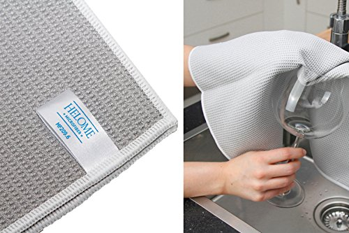 HelOME Microfaser Trockentuch Geschirrtuch extra saugstark 38 x 60 cm Microfasertuch für Küche,...