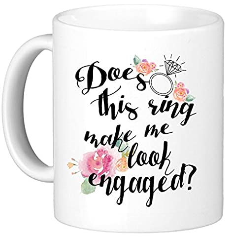 Oh, Susannah Does This Ring Make Me Look Engaged? 11Oz Mug - White Gift Box Does This Ring Make Me Look