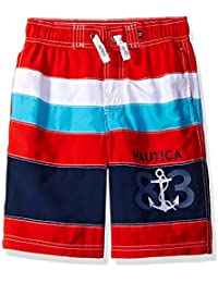Nautica Boys Printed Stripe Swim Trunk