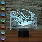 ZBHW Creative 3D Soccer gardien de but Night Light 7 couleurs changeantes USB Power...