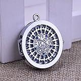 ZHEBAO Pocket Watch Anime Peripheren Black Butler Anhänger Halskette (Silber),Silver,3 * 3 * 1CM