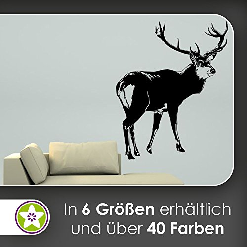 KIWISTAR Hirsch Motiv 2 Geweihträger Wandtattoo in gebraucht kaufen  Wird an jeden Ort in Deutschland