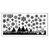 Lovenails | X-Mas Stamping Schablone Schneeflocken 6 | für Weihnachten Advent Winter | Stempelschablone Nailart – für weihnachtliche Naildesigns Nageldesigns