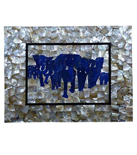 61x 121,9cm tavolo da pranzo in marmo madreperla pietra lapis Elephant Art Home (Intagliato A Mano Madreperla)