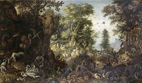 Fine Art Print–Der Garten Eden, kurz, Adam, Bentley mit Kunst -, Papier, multi, 29 x 16 (Adams Kurze)