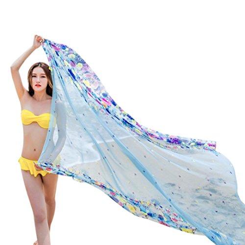 Transer ® Femelle Écharpes,Elégant style Écharpes Femme Mer Sunscreen Climatisation Écharpe Beach Towel double utilisation Nouvelle promotion en Europe Multicolor11