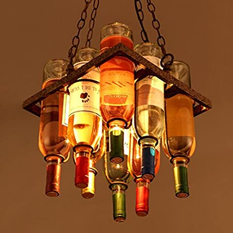 soppalco lampadario creativo bar caffè ristorante bar soggiorno bottiglia decorativo personalizzato lampadario artistico progettista