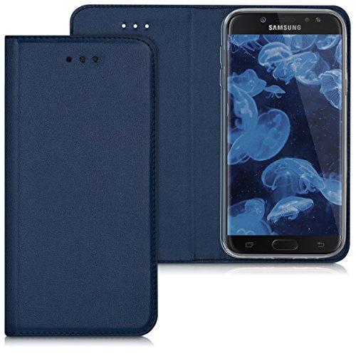 kwmobile Samsung Galaxy J7 (2017) DUOS Hülle - Kunstleder Handy Schutzhülle - Flip Cover Case für Samsung Galaxy J7 (2017) DUOS
