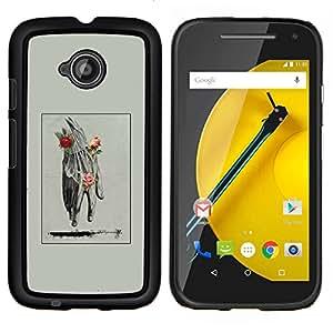 Copertura di plastica Shell Custodia protettiva || Motorola Moto E ( 2nd Generation ) || Mano Uomo Primavera Deep Rose Significato @XPTECH