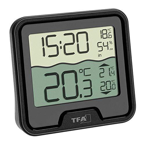 TFA Dostmann 30.3066.01 Funk Poolthermometer Marbella Schwimmbadthermometer (schwarz mit Batterien)