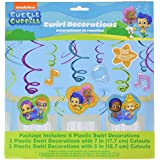 Bubble Guppies Foil Swirl Hanging Decorations (Each) by Amscan