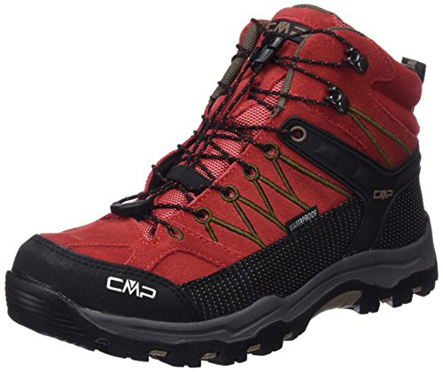 CMP Rigel Mid WP Unisex-Kinder Trekking-& Wanderschuhe, Rot (Ferrari-Tortora), 29 EU