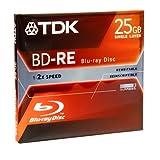 TDK Blu-ray 25Go Disque Réinscriptible d'enregistrement (bdre25a) Projecteur (par le fabricant)
