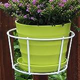 Blumenregal Ständer Eisen Pflanzenständer Regal Container Innen Außen Balkon Hängend Rund Rahmen Garten Ornamente Home Dekoration, weiß