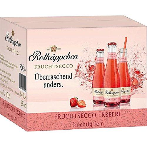 12 Flaschen Rotkäppchen Fruchtsecco Erdbeer a 200ml Piccolo Erdbeere -