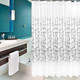 Baño patrón de piedra grueso plásticoPEVACortinas de ducha/ paño de cortina de ducha de moho resistente al agua caliente/ partición cortinas-A