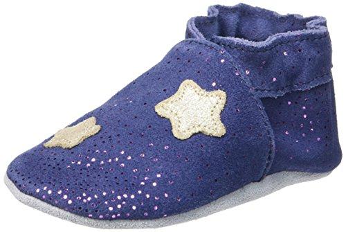 RobeezMOON LIGHT - Scarpine e pantofole primi passi  Unisex - Bimbi 0-24 , Blu (Blu (10)), 21/22