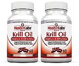 Health Labs Nutra Omega 3 Krill Oil 1000mg par portion (2 gélules)...