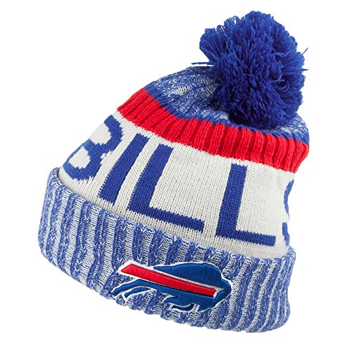 New Era Buffalo Bills Bobble Hat - NFL Sideline - Blue