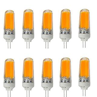 Aoxdi 10X G4 LED 3W Dimmable COB LED Bulbs Light, Warm White, G4 Super Bright LED Lamp, AC 220-240V, G4 LED COB