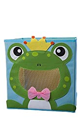 Smiling Frog Prince Collapsible Toy Storage Box And Closet Organizer For Kids