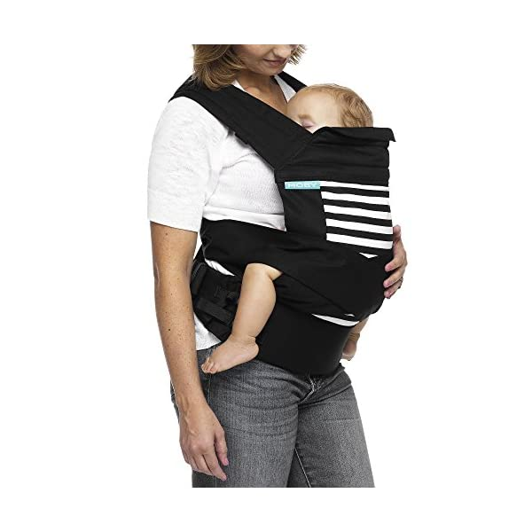 MOBY Buckle Tie Carrier for Baby to Toddler up to 45lbs, One Size Fits All, Unisex,Stripes Moby One-size-fits-all Grows with baby, from infant to toddler Offers front, hip and back carrying positions 2