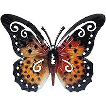Arte de la pared decoración de pared de Metal escultura - 17cm - mariposa para el jardín o en la casa