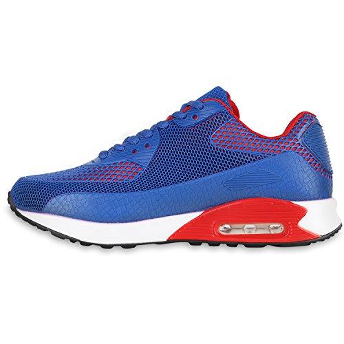 Damen Herren Unisex Laufschuhe Neon Runners Casual Schuhe Sportschuhe Blau Rot