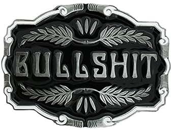 Boucle de ceinture Bullshit, en un de mes présentation en coffrets.