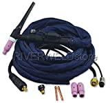 WP-17FV-12 150Amp Tig Welding Torch Complete With Flexible & Valve Head 3.8 Meters(12 feet)