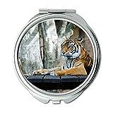 Yanteng Spiegel, Reise-Spiegel, Tier große große Katze, Taschenspiegel, tragbarer Spiegel