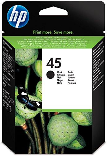 HP 45XL Schwarz Original Druckerpatrone mit hoher Reichweite für HP Deskjet, HP Officejet -