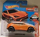 2016 Hot Wheels HW Hot Trucks Lamborghini Urus 2/10 Short Card