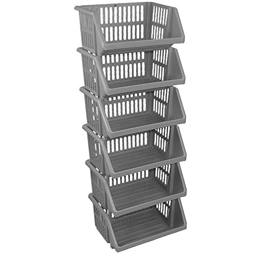crazygadgetar-multi-purpose-large-plastic-colour-storage-rack-stand-stacking-stackable-basket-made-i