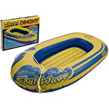 "Childs 45"" Rubber Boat Dinghy Inflatable Raft Childrens Swimming Pool Beach Toy"