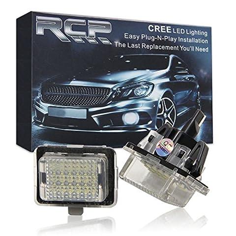 WIN Puissance sans erreur LED Licence Plaque Montage Blanc Lampe pour Mercedes W204W212W216W221W207