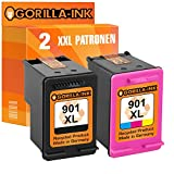 Gorilla-Ink® Farbset 2 Druckerpatronen XXL remanufactured für HP 901 XL Black & Color OfficeJet 4500 Series 4500 Wireless J 4550 J 4580 J 4680 J 4680 C