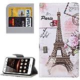 HUAWEI CASE COVER Funda de piel de patrón Huawei Y5 II Ojos con portador y ranuras para tarjetas y cartera ( SKU : MLC0777G )